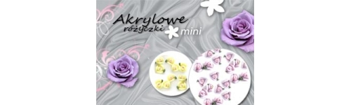 Róże akrylowe mini 3mm